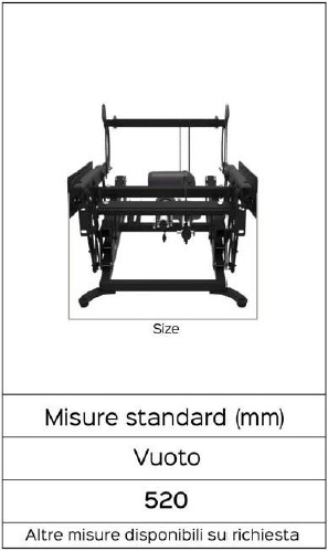 misure taurus telescopic lift 2 motori