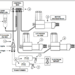Schema Elettrico del Triplo Motore della Poltrona alza persone reclinabile relax